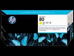 HP - HP C4823A ORJİNAL SARI KAFA+TEMİZLEYİCİ KARTUŞ NO:80