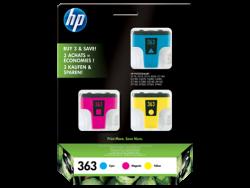 HP - HP CB333EE ORJİNAL RENKLİ KARTUŞ 3'LÜ PAKET NO:363