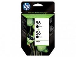 HP - HP C9502AE ORJİNAL ÇİFTLİ PAKET SİYAH KARTUŞ NO:56