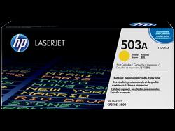HP - HP Q7582A ORJİNAL SARI TONER NO:503A