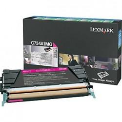 LEXMARK - LEXMARK C734A1MG ORJİNAL KIRMIZI TONER
