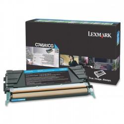 LEXMARK - LEXMARK C746A1CG ORJİNAL MAVİ TONER