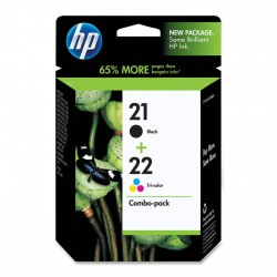 HP - HP SD367AE ORJİNAL SİYAH+RENKLİ KARTUŞ NO:21+22