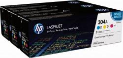 HP CF372AM ORJİNAL ÜÇ RENK (CMY) TONER NO:304A - Thumbnail