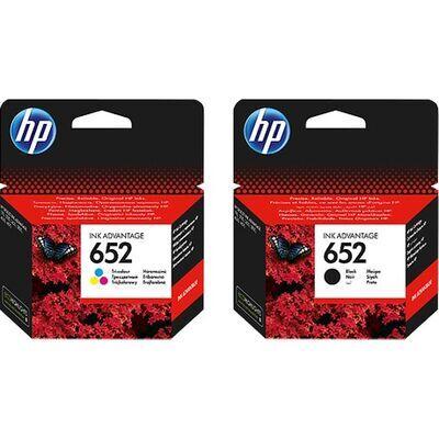 HP 652 SİYAH VE RENKLİ ORJ. 2Lİ SET KARTUŞ F6V24AE F6V25AE
